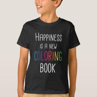 Camiseta A felicidade é um livro para colorir novo