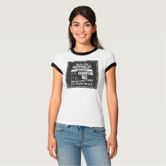 Camiseta A felicidade está comprando óleos essenciais!