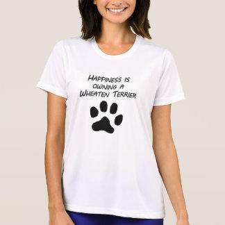 Camiseta A felicidade está possuindo Terrier Wheaten