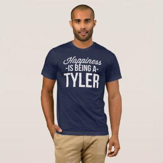 Camiseta A felicidade está sendo um Tyler