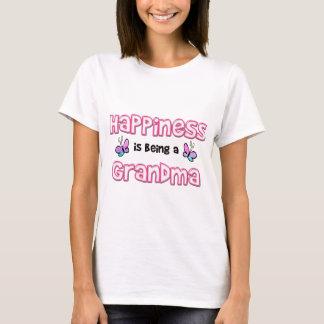 Camiseta A felicidade está sendo uma avó