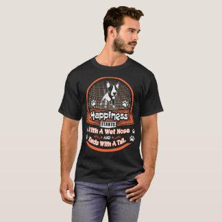 Camiseta A felicidade liga a cauda molhada bull terrier das