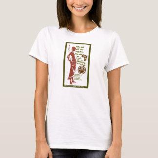 Camiseta A fêmea vai T positivo