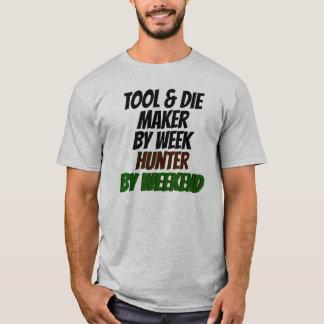 Camiseta A ferramenta e morre pelo caçador da semana em o
