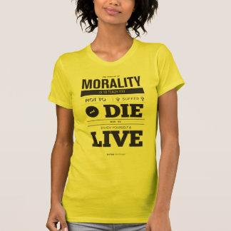 Camiseta A finalidade do T da moralidade
