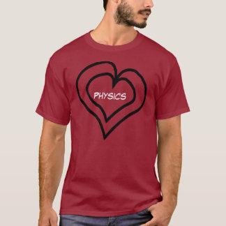 Camiseta A física está em meu coração
