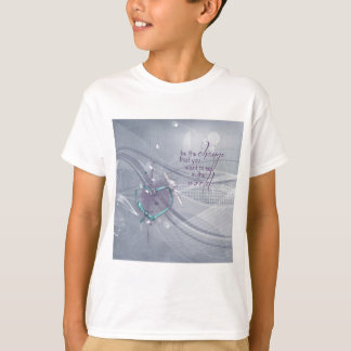 Camiseta A fita do coração do Aqua, diploma, jóias, seja a