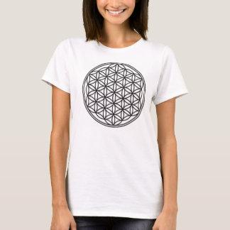 Camiseta A flor das mulheres do t-shirt da vida