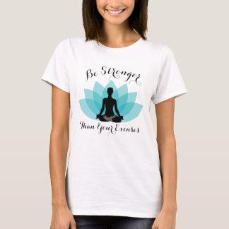 Camiseta A flor de Lotus senta-se