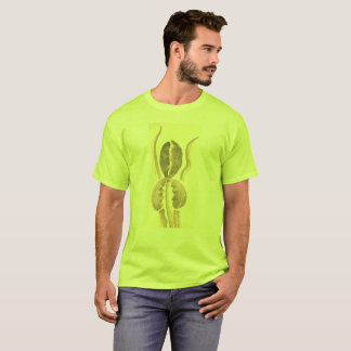 Camiseta A flor de Sepie Tan no verde com sinal de adição