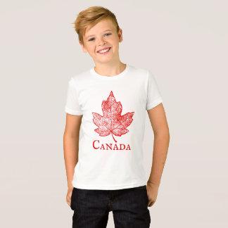 Camiseta A folha de bordo de Canadá do estilo do vintage