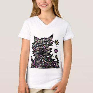 """Camiseta A """"fortuna engana"""" o t-shirt do V-Pescoço das"""