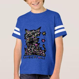 """Camiseta A """"fortuna engana"""" o Tshirt do esporte dos meninos"""