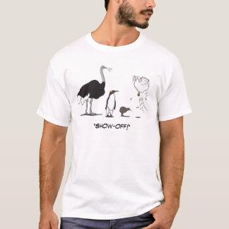 Camiseta A galinha engraçada do vôo do quivi do pinguim da