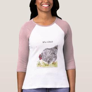 Camiseta A galinha pequenina da galinha do pintinho sleeved
