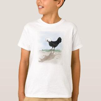 Camiseta A galinha polonesa bonito que caça um inseto