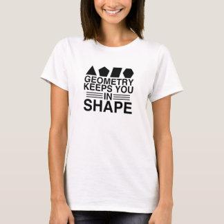 Camiseta A geometria mantem-no na piada da chalaça da
