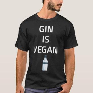 Camiseta A gim é t-shirt do bebendo do licor do Vegan