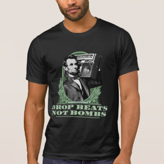 Camiseta A gota bate não citações de Abe Lincoln das bombas