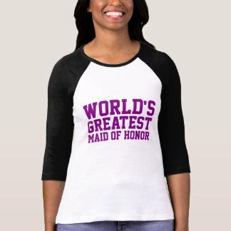 Camiseta A grande madrinha de casamento do mundo roxo