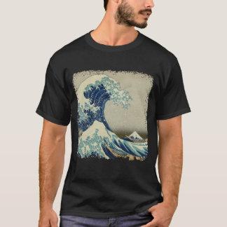Camiseta A grande onda fora de Kanagawa (神奈川沖浪裏)