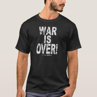 Camiseta A guerra está sobre (o olhar vestido)