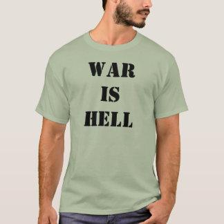Camiseta A guerra realiza-se t-shirt do inferno