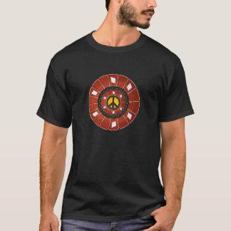 Camiseta A guitarra desgasta o sinal de paz