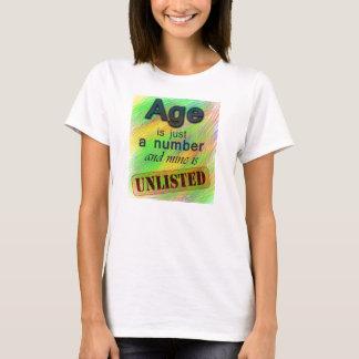 Camiseta A idade é não inscrita