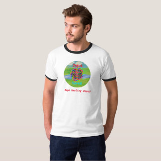 Camiseta A igreja cura Jesus cristão da esperança salvar o