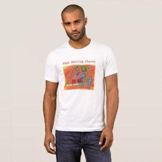 Camiseta A igreja cura Jesus da esperança ama o t-shirt
