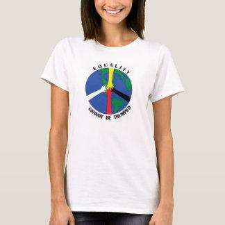 Camiseta A igualdade não pode Trumped - Tshirt