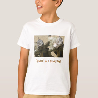 """Camiseta A """"iguana"""" seja um grande dia!!"""