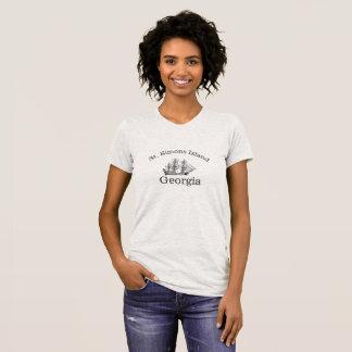 Camiseta A ilha do St. Simons alta envia o t-shirt para