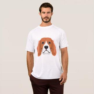 Camiseta A ilustração persegue o lebreiro da cara