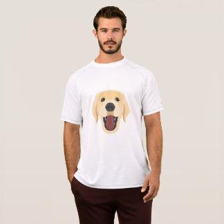 Camiseta A ilustração persegue o ouro Retriver da cara