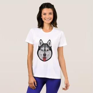 Camiseta A ilustração persegue o rouco Siberian da cara