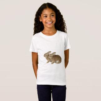 Camiseta A imagem do coelho para meninas multa o t-shirt do
