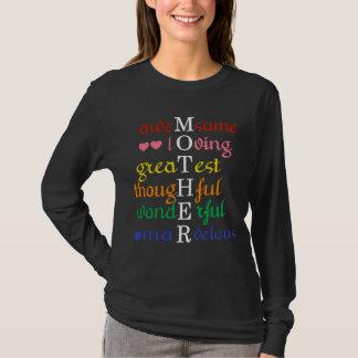 Camiseta A Impressionante-Loving-Grande mãe nos arcos-íris