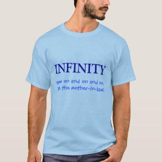 Camiseta A INFINIDADE, vai sobre e sobre e sobre,