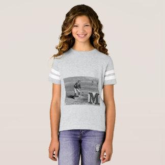 Camiseta A inicial M do Muff do basebol ostenta o vintage