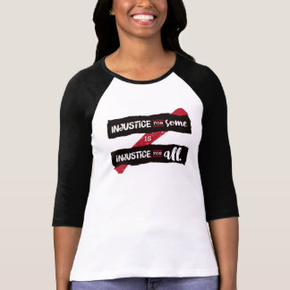 Camiseta A injustiça coube 3/4 de T da luva