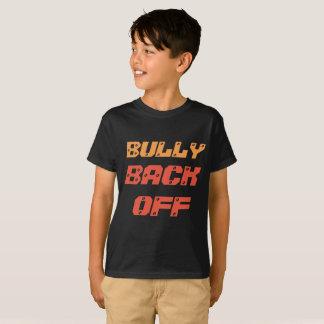 Camiseta A intimidação preta do t-shirt desembaraça-se para