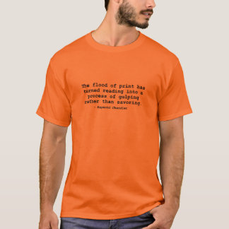 Camiseta A inundação do impressão (Raymond Chandler)