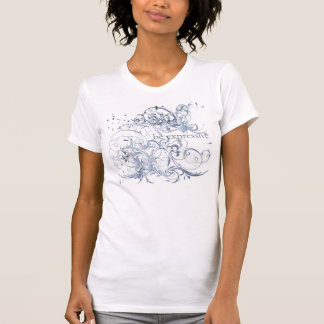 """Camiseta A ioga fala: O azul """"seja"""" Chakra expressivo"""