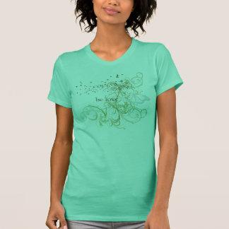 "Camiseta A ioga fala: ""Seja amor: Esverdeie Chakra"