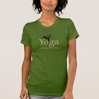 Camiseta A ioga faz-me feliz