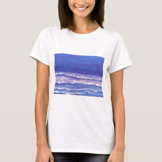 Camiseta A jóia tonificou presentes do seascape das ondas