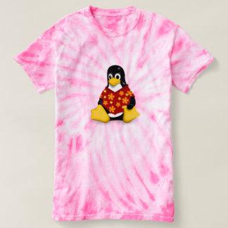 Camiseta A Laço-Tintura das mulheres ocasionais de Tux