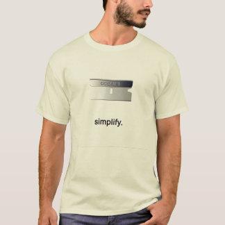 Camiseta A lâmina de Occam